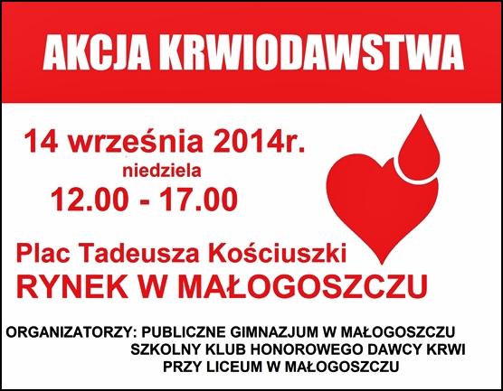 Tydzień Promocji Zdrowia na 15-lecie Gimnazjum - Akcja Krwiodawstwa!