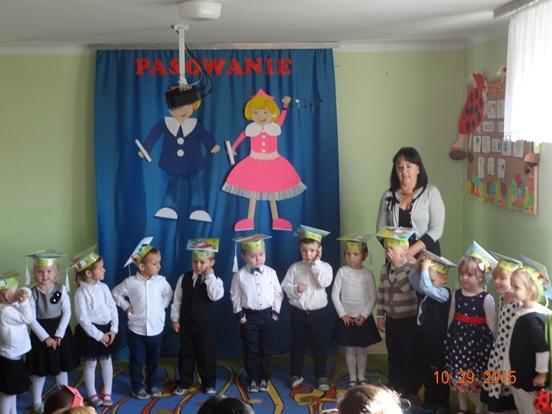 Pasowanie na przedszkolaka wPrzedszkolu Publicznym wKozłowie!