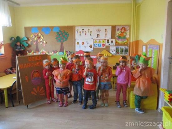 Dzień Marchewki wgrupie ,,Krasnoludków˝ wPrzedszkolu Publicznym w Kozłowie!