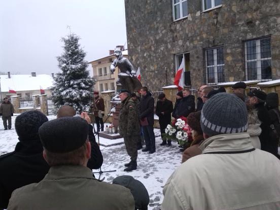 Szkolna Grupa Przysposobienia Obronnego Orlęta Poland Commando na uroczystościach 152 rocznicy Powstania Styczniowego
